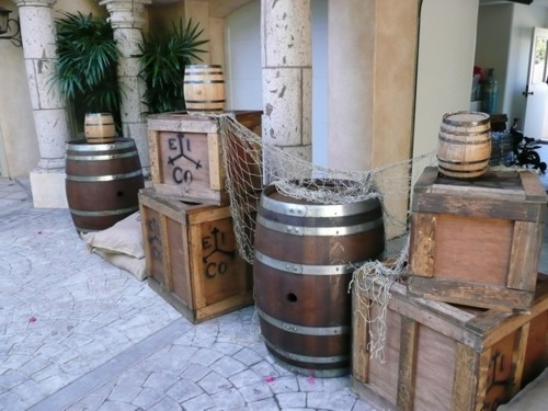 pirate prop barrels