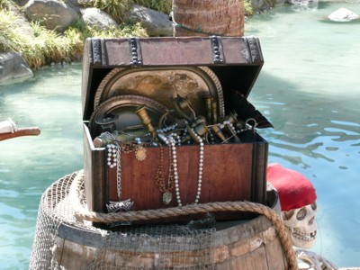 pirate treasure chest prop