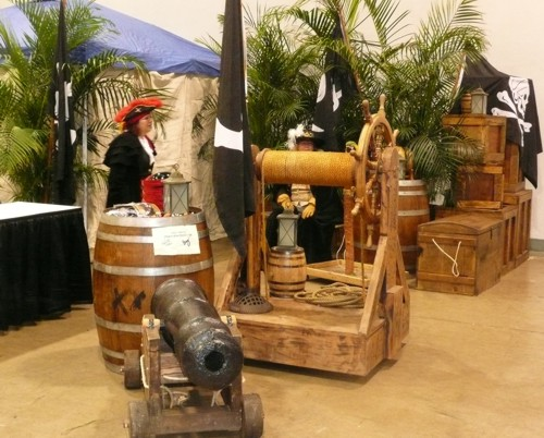 pirate theme trade show booth