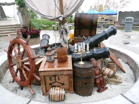 The largest selection of pirate props for rent - call for more details